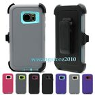 New Hybrid Rugged Defender Case + Belt Clip Holster Cover for Samsung Galaxy S7