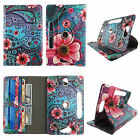 Case For 7 inch Tablet Universal Folio Leather Rotating Cover Card Cash Slots