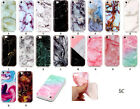 Art Marble Design Silicone Rubber Gel Case Cover For Apple iPhone 5 SE 6 7 Plus