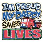 Fireman Daddy saves live Tshirt robber infant toddler baby shower boy girl US 11