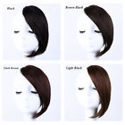 Swiss Mono Remy Human Hair Topper Toupee Hairpiece Wig bangs For Women