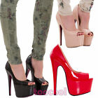 Women's shoes court polished paint plateau heel high D913