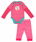 Girls Baby Owl Motif Stripe Bodysuit & Bottoms Set 3-6 Months SALE
