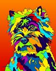 Made in USA Multi-Color Cairn Terrier Dog Breed Matted Print Wall Decor