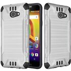 For Alcatel Zip LTE A576BL A577 Brushed Slim Dual Layer Armor Hybrid Cover Case <br/> Alcatel A30 Case (Amazon Version Only) Alcatel Kora