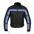 Mens Armoured Cordura Textile Motorcycle Short Sports Jacket Racing