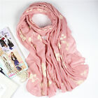 Womens Embroidery Long Scarves Floral Soft Sunscreen Shawl Stole Wrap Hijab New