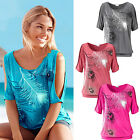 CHIC New Women Short Split Sleeve Loose Casual T-shirt Ladies Summer Tops Blouse