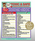 TOXIC & SAFE FOODS Poison for Pets Dogs Cats Emergency ICE Fridge Safety Magnet