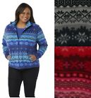 Laura Scott Womens Plus Fleece Jacket Zipper Fair Isle sizes 2X 3X NEW