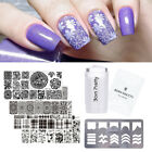 Nagel Stamping Platte mit Jelly Stempel und Scraper Guide Template Stamping Tool