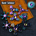 New Rainbow Alloy Figet Spinner Hand Toy EDC Metal Gyro Bearing Spin Autism ADHD