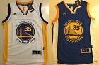 Kevin Durant #35 Golden State Warriors Swingman Adidas Blue White Mens Jersey