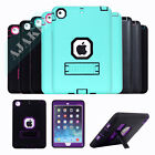 Heavy Duty Rubber Stand Shockproof Case Cover For iPad 2/3/4 Mini 1/2/3 Air 2