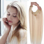 """15""""-24"""" Secret Invisible Wire Flip in human Hair Extensions100g Black Blonde Han"""
