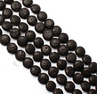Natural Lava Beads Black Volcanic Stone Rock Gemstone Wholesale 4/6/8/10mm Lot