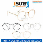 OCCHIALI MARCA ISURF MODELLO ROUND ROUND METAL NEUTRAL FASHION LENTE NEUTRA