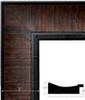 West Frames The Lodge Distressed Picture Frame Dark Brown Walnut 3""