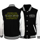 Official Star Wars Force Awakens First Order Stormtrooper Men's Varsity Jacket $27.55 USD