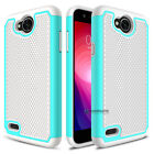 For LG X Charge / Fiesta LTE Shockproof Hybrid Impact Hard Slim Phone Case Cover