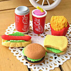 3pcs Novelty Food Sandwich Hamburger Shaped Rubber Erasers Kids Stationery Kit $1.0  on eBay