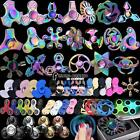 Metal  Fidget Finger Hand Spinner EDC Fingertip Gyro Anti Stress Toys Rainbow UK