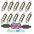 INTERIOR / NUMBER PLATE LED FESTOON 239 36MM 37MM CANBUS BULB IN PURE WHITE UK
