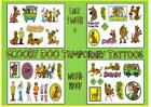 SCOOBY DOO inspired film cartoon temporary X10 TATTOOS waterproof  LAST1 WEEK+