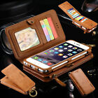 Genuine Leather Flip Wallet Phone Case Cover for iPhone 6 7 Plus Samsung S7 S6 $13.1 USD