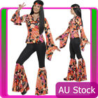 Willow Hippie Costume Ladies 70s Womens 1960s 1970s 60s Groovy Hippy Retro Dress
