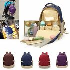Outdoor Kid Baby Diaper Nappy Backpack Changing Waterproof Mummy Shoulder Bag US