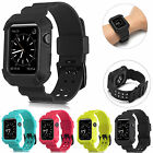 For Apple Watch iWatch 38mm/42mm - Silicone Rugged Wrist Band Protective Case