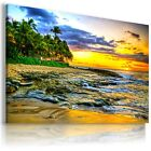 SUNSET BEACH  , View Canvas Wall Art Picture Large SIZES  L168  X