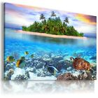 PARADISE BEACH  , View Canvas Wall Art Picture Large SIZES  L173  X
