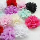 16pcs Big 6CM Mesh Chiffon Ribbon Flower Bow Craft 8 Colors Upick