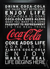 COCA COLA POSTER PHOTO SLOGANS GICLEE PRINT FRAMED $189.95  on eBay