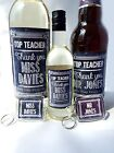 PERSONALISED CHALKBOARD THANK YOU Teacher WINE, BEER LABEL, KEYRING GIFT