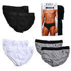 Polo Ralph Lauren Slim Fit Underwear Mens 2 Pack Briefs Gray Black White New Nwt