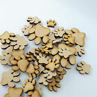 25 x Wooden MDF Paw Print craft Shapes,Cat/Dog Paws Embellishments