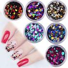 Nail Art Sequins UV Gel Colorful Ultrathin Shiny Round Stickers Decoration Tips