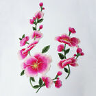 Embroidered Colorful Floral Sewing Appliques Triming Dress Accessories WT121