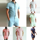 One Piece Shorts Jumpsuit Playsuits Rompers Short Sleeve Pants  Fashion Man
