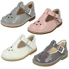 Clarks Girls Buckle First Shoes Yarn Weave