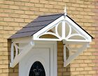 Althorp Door Canopy Rain Shelter - White frame with choice of roof colour