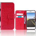 Fashion Shockproof Leather Card Wallet Flip Phone Case Cover For iPhone SE 5s 5