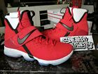 Nike LeBron XIV 14 University Red Black Bred White Cement Brick Road 852405-600