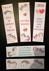 Pastel Unicorn Bookmarks - Lovely gift idea, can be personalised *Emo*Goth*Punk*