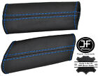 BLUE STITCHING REAL LEATHER 2X DOOR PANEL HANDLE COVERS FOR CORVETTE C6 05-13