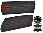 ORANGE STITCHING REAL LEATHER 2X DOOR PANEL HANDLE COVERS FOR CORVETTE C6 05-13