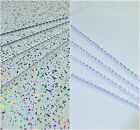 White Sparkle Or Gloss White Bathroom Panels Ceiling Cladding Shower Wall PVC